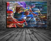 büyük sanat eserleri boyuyor toptan satış-Çerçeveler olmadan Giclee Artworks HD Baskılar Resimleri Poster Kanvas Sanat Duvar Dekor Boyama Büyük Beden Güzel Bisiklet Yarışı Manzara Yağı