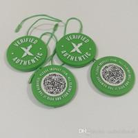 satılık etiketler toptan satış-Sıcak Satış Ucuz Doğrulanmış Stok X QR Kod Etiketi Stok X Etiketi Yeşil Dairesel Etiketi Plastik Doğrulanmış Otantik Ayakkabı
