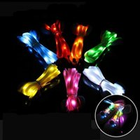 Wholesale shoelace new online - Universal Ultralight Flash Shoelaces Novelty Resuable LED Light Up Shoelace Glow In The Dark Bootlace New Arrival gl BB