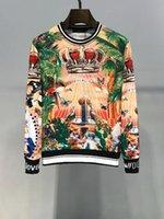 moletom italiano venda por atacado-Luxo Moda Italiana Mens Hoodies Designer de Pulôver Das Mulheres TROPICO REI impresso camisola de algodão Pullover Hoodies Homem