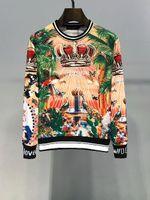 könig sweatshirts großhandel-Luxus italienische Mode Herren Designer Hoodies Frauen Pullover TROPICO KING gedruckt Baumwolle Sweatshirt Pullover Hoodies Mann