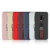 бронированный гибридный ударопрочный чехол оптовых-TPU + PC противоударный броня Case для Samsung Note8 Note9 S7 Edge S8 S9 J4 J6 Plus A750 гибридный броня телефон Case с палец лямки