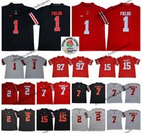 06ade745f 2018 Rose Bowl Ohio State Buckeyes 1 Justin Fields 7 Dwayne Haskins Jr. 2  JK Dobbins 97 Nick Bosa Ezekiel Elliott College Football Jerseys