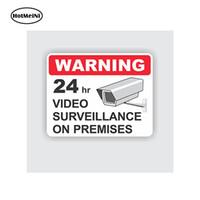 autocollants de sécurité achat en gros de-En gros 20pcs / lot voiture style autocollant de voiture 24h surveillance vidéo surveillance autocollant de sécurité durable signe d'affaires durable 13 cm x 12 cm