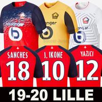kırmızı beyaz futbol formaları toptan satış-Yeni19 20 Lille futbol forması soccer jersey football shirts PEPE BAMBA ev kırmızı 2019 2020 losc REMY LEAO ARAUJO üst tayland kaliteli