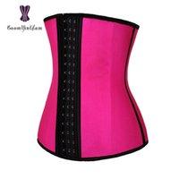 8a2595de17 3 hooks waist cincher shaper 4 steel boned corset body shapewear girdle  belt latex waist trainer for women 2839 . Supplier  wangleme0