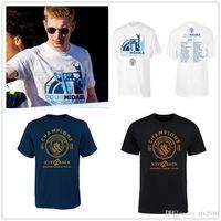 fußball-premier league groihandel-Fußball T-shirts Manchester Fußball 2019 fa Premier fa Cup Community Shield League Cup 4 Gewinner Kurzarm T-Shirts Shirts White Print Englan
