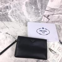 siyah deri zarf debriyajı toptan satış-2019 Avrupa Amerika Yeni kadın Debriyaj Çanta Gelgit Zarf Çanta Kadın Moda siyah deri