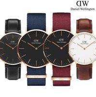 новые женские часы оптовых-Новые роскошные Мужчины Женщины DW Даниэль Веллингтон часы 40 мм мужские часы 36 женские часы известный Кварцевые наручные часы женский Relogio Montre Femme
