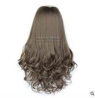 du geformte haarperücken groihandel-U-förmiger Perücken-Halbkopfsatz, weibliches langes lockiges Haar, Birnenblumen-Lockenhaar-Satz, U-Teil-Perücken fallen, der in Europa und Amerika beliebt ist