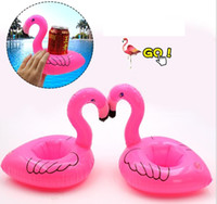 Wholesale strawberry mats resale online - Inflatable float Toy Drinks Cup Holder Watermelon lemon donut strawberry pineapple mattress drink mat Coasters Flotation Devices water tubes