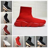 zapatos cómodos de calidad al por mayor-Hot Sall Sock Shoes Zapatillas de carreras cómodas Zapatillas de correr casuales Zapatos blancos y negros de alta calidad para hombres y mujeres Zapatillas de lujo