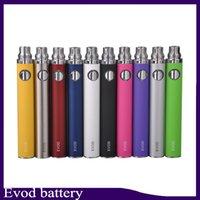 evod elektronische zigaretten kits mt3 großhandel-EVOD Batterie für elektronische Zigarette 650mAh 900mAh 1100mAh passen alle Serien eGo Kit CE4 CE5 MT3