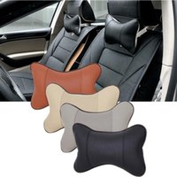 Wholesale headrest cushions for sale - Group buy Car Neck Rest Pillow Artificial Leather Car Headrest Pillow Auto Safety Seat Interior Neck Pillow Cushion Accessories GGA166
