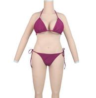peitos de mama venda por atacado-transgênero formas de mama de silicone transsexual corpo inteiro se adapte com os braços falsos seios penetrável falsa vagina para crossdresser