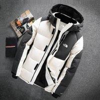 vestes imperméables chaudes pour hommes achat en gros de-HOT New north hommes femmes Casual Down Jacket manteaux mens plein air chaud plume visage homme manteau d'hiver outwear coupe-vent imperméable vestes