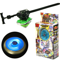 beyblade hediye toptan satış-Beyblade Patlama Marş Launcher fidget spinner Kılıç Launcher Ile Fabrika Kaynağı Oyuncaklar Çocuk Hediye Metal Fusion Blayblade Oyuncak