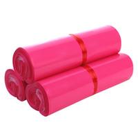 embalagem de caixa cor-de-rosa venda por atacado-Hot Rosa Brilhante Saco De Envelope De Plástico Auto-selo Sacos De Armazenamento De Correio Adesivo Plástico Poly Mailer Postal Caixa de Presente Sacos de Embalagem