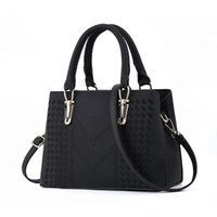 кожаные сумки оптовых-Дизайнерские сумки Женская сумка через плечо с верхней ручкой Сумочка среднего размера Прочная кожаная большая сумка Женские сумки на ремне