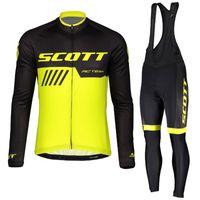vêtements de cyclisme d'équipe achat en gros de-Nouveau 2019 Hommes SCOTT Maillot De Cyclisme Pro Team Tour De France Automne Séchage Rapide Manche Longue Vélo De Vêtement Route Vélo De Sport Sportswear 112401Y