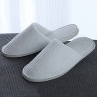 Wholesale disposables hotel slippers resale online - Home Guest Thicken Coral Fleece Anti slip Disposable Slippers Travel Hotel White Soft Comfortable Delicate Disposable Slippers DH0610 T03