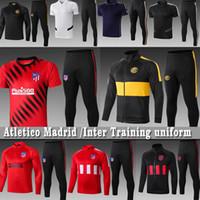 futbol üniformaları eğitim toptan satış-Atletico Erkekler Madrid Futbol Inter Tracksuits Lukaku Ceket ALEXIS João Félix Eğitim forması Saúl Uzun kollu spor ayarlar