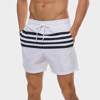 ingrosso uomini caldi bianchi brevi-2019 New Sexy Bianco Costume Da Bagno Uomo Maillot De Bain Hot Striped Costume Da Bagno Trunks Mens Alta Elastico Surf Spiaggia Shorts Slip