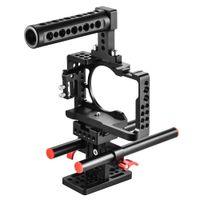 kamerastativ großhandel-Korrosionsbeständiger Aluminium-Kamerakäfig mit 1 4-Zoll-Stativplatte für die Sony A6500 ILDC-Kamera