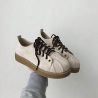 Wholesale qiu shoes resale online - Magic2019 Su Original Tide Qiu Leisure Time Flat Bottom Skate Shoes Shell Round Shoes Head Joker Motion Schoolgirl Shoe Chalaza
