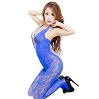 erwachsene frauen fischnetz großhandel-Frauen deutet Hot Slips für Frauen Unterwäsche Netzstrümpfe Schritt offen Netzstrumpfhose für Erwachsene Spiel, Sexy Dessous