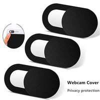 Wholesale webcam tablets resale online - New WebCam Cover Shutter Slider Plastic Universal Camera Cover For Web Laptop iPad iphone PC MacBook Tablet Privacy Sticker phone with boxs