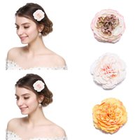 Wholesale flower hair clips brooch for sale - Group buy M MISM Women Flower Hair Clips Korean Style Fabric Hairpins for Girls Headmade Wedding Brooch Barrettes Mujer Hair Accessories