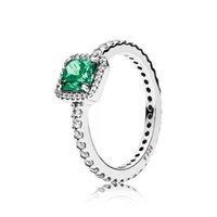 joyería de plata esterlina al por menor al por mayor-30 piezas de circonio cúbico al por menor s925 plata esterlina PDR Diamond RING con LOGO y caja original Fit Pandora style Jewelry