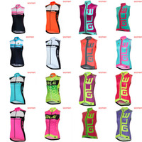 Wholesale women s team cycling jerseys resale online - ALE team Cycling Sleeveless jersey Vest women Breathable Comfortable Slim fit popular hight quality Outdoor X71823