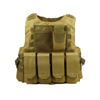 Wholesale assault tactical carrier vest resale online - Airsoft Tactical Vest Molle Combat Assault Plate Carrier Tactical Vest Colors CS Outdoor Clothing Hunting Vest colors