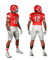 amerikanische rugby-fußball-trikots großhandel-Maßgeschneiderte Jersey American Football Uniform Rugby-Sets Belüftung Weich Schnelltrocknend Maßgeschneiderte Trikotsets für Fußballmannschaften