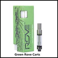 glaszerstäuber großhandel-Green Rove Vape Patronen Pyrex Glaswagen 0,8 / 1,0 ml Keramikspule Dicköl Ecigarette Zerstäuber mit 6 Geschmacksrichtungen vs Smart Carts