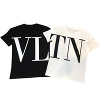 Wholesale sleeves printed tshirts print online - Womens Designer T Shirt Letter Printed Short Sleeve Tee for Summer Black White Breathable Brand Tshirts EU Size