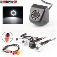 Wholesale hd lights for car for sale - Group buy Koorinwoo CCD HD Video Car Rear view Camera Front Camera led Light Night vision Parking System Black white Reverse for safe