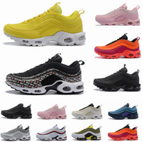 Wholesale new fabric cushion resale online - 2019 New Mens Plus Shoes Classic OG Women Running Shoes Black White Trainer Sneakers Cushion Breathable Men Walking Sports Shoes