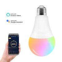 Wholesale Smart LED Blub Wifi Smart Light Support amazon alexa google assistant Voice Control Globe Lamp Smart Illumination Light LED Bulb W CR70