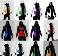 Wholesale kenway jacket for sale - Group buy 12 Colors Hot Sale Assassins Creed III Conner Kenway Hoodie Coat Jacket Cosplay Costume