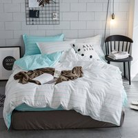 Wholesale stripped queen bedding for sale - Group buy Z Jian Home Simple White Strip Geometric Bedding Sets Children s Beddingset Bed Linen Duvet Cover Bed Sheet Pillowcase bed Sets