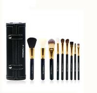 Wholesale cylinder pc online - In stock Macs Makeup M Brush Set Cup Holder Professional Makeup Brushes Set Cosmetic Brushes With Cylinder MC Cup Holde