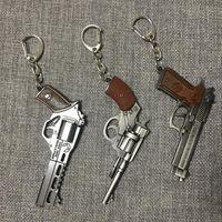 llavero pistola al por mayor-Pistola Llaveros - Juego de pistola para hombres Colección Pistola Llavero Anillo Revólver Recuerdo Hombres Boy Regalo Mujer Bolsa Encanto