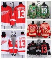 pavel datsyuk hiver classique jersey achat en gros de-2016 Hiver Classique Detroit Red Wings Pavel Datsyuk Maillots De Hockey Accueil Rouge Blanc Pas Cher Pavel Datsyuk Cousu Jersey M-XXXL