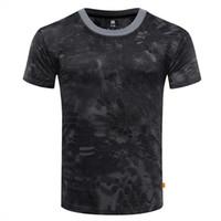 taktisches t-shirt großhandel-Männer Outdoor Berühmte Tactical Camouflage T-shirt Atmungsaktiv US Army Combat T-shirt Schnell Trocknend Camo Jagd Camping Wandern Tees
