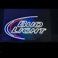 Wholesale custom pub glasses for sale - Bud Light Neon Sign Custom Handmade Real Glass Tuble Beer Bar KTV Club PUB Store Motel Restaurant Display Neon Signs quot x20 quot