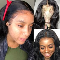 8a peluca de pelo peruano al por mayor-8A Pelucas de Onda de Cuerpo peruano 360 pelucas de cabello humano de encaje completo 10
