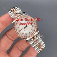 mais barato relógios mecânicos venda por atacado-Relógio de luxo Melhor Qualidade Presidente Diamante Bezel Mulheres Relógios Inoxidável Menor Preço Das Senhoras Relógio de Pulso Mecânico Automático Das Senhoras 31mm